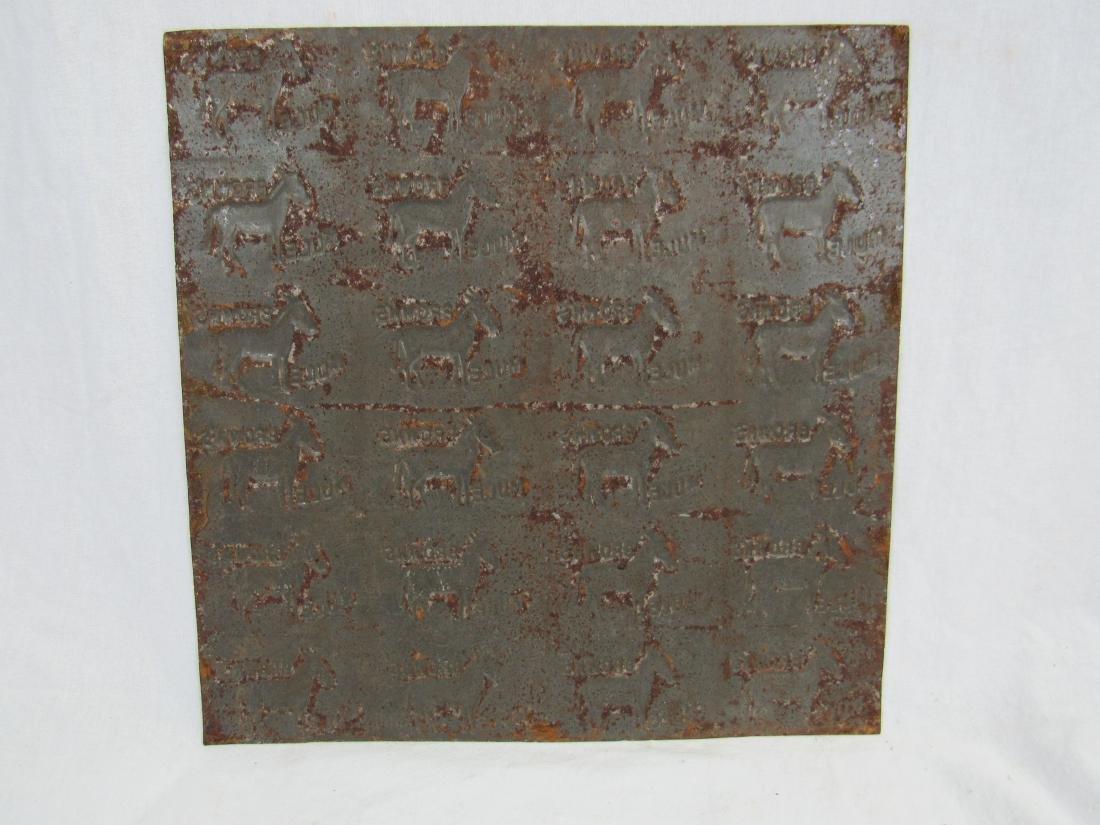 Antique Brown Mule Tobacco Tin Stamp - 3