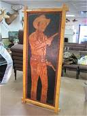 Roy Rogers Original Hand Tooled Leather Portrait