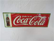 NOS 1934 Drink Coca-Cola Christmas Bottle Sign