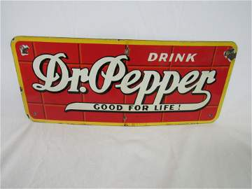 Porcelain 1948 Dr. Pepper Truck Sign