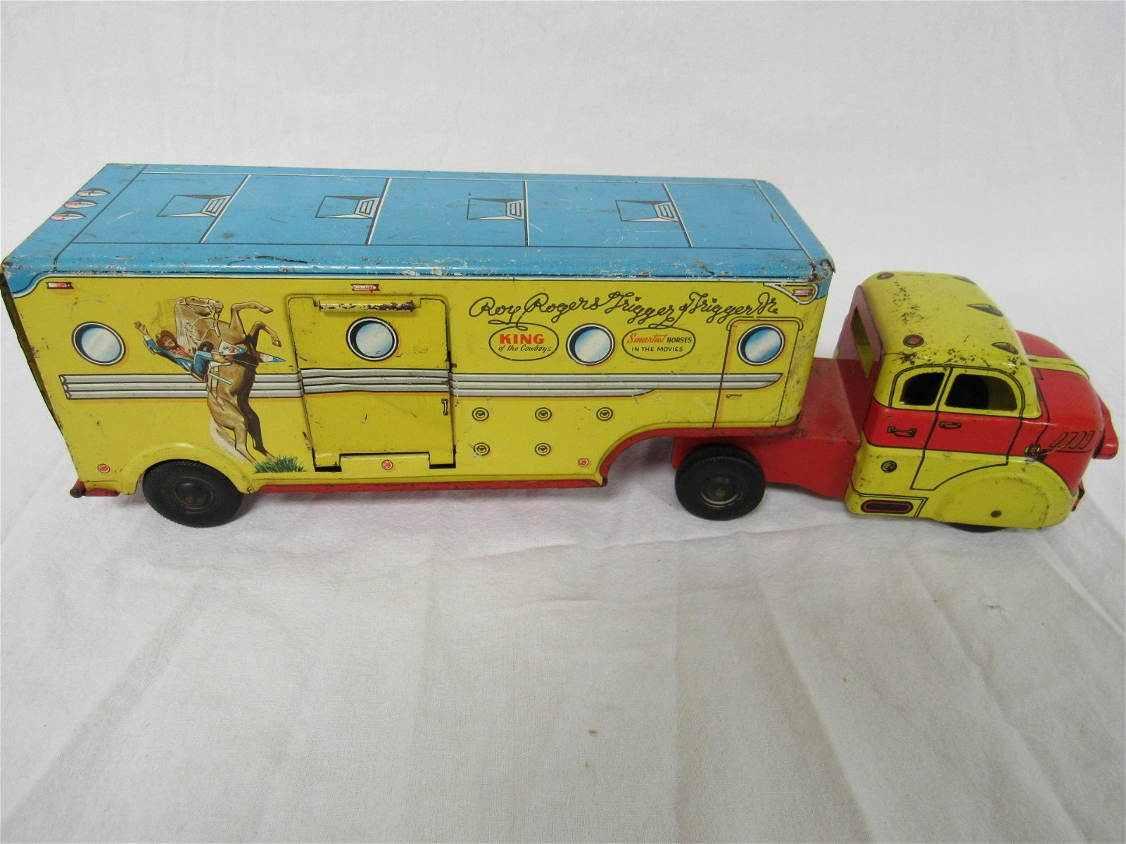 1950s Tin Litho Marx Roy Rogers Truck and Trailer