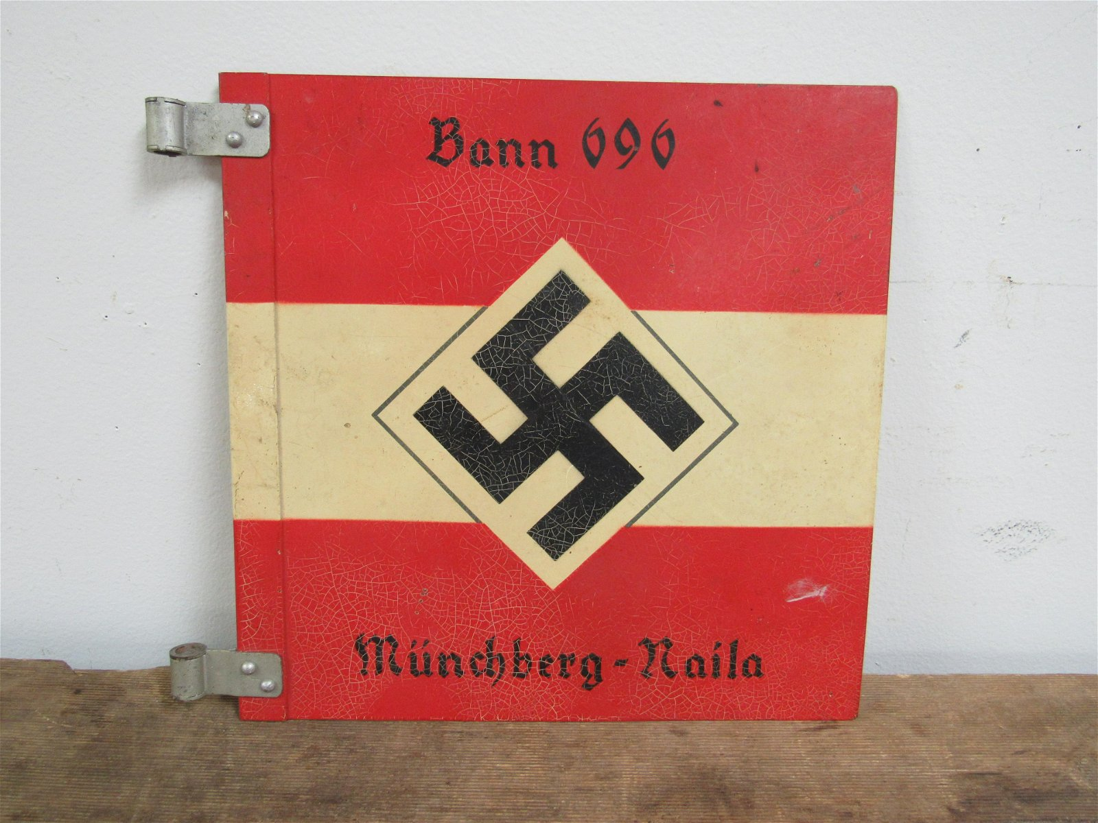 WWII Nazi Germany Hitler Youth Double Sided Car Sign