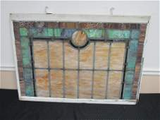 Antique Leaded Slag Glass Window