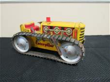 1940's Tin Litho Key Wind Marx Caterpillar Tractor