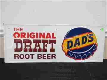 NOS SSPT Embossed Dads Root beer Sign