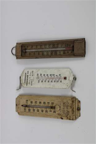 Lot of Three Misc. Advertising Thermometers.