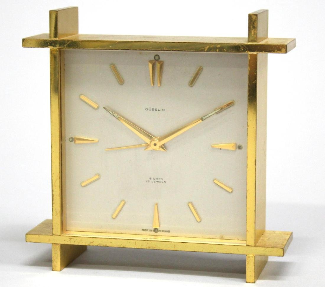 Swiss Gubelin 15-Jewel Alarm Clock