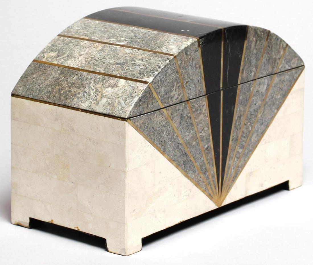 Maitland-Smith Vintage Tessellated Stone Box