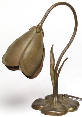 "McClelland Barclay Bronzed ""Crocus"" Lamp, ca. 1935"