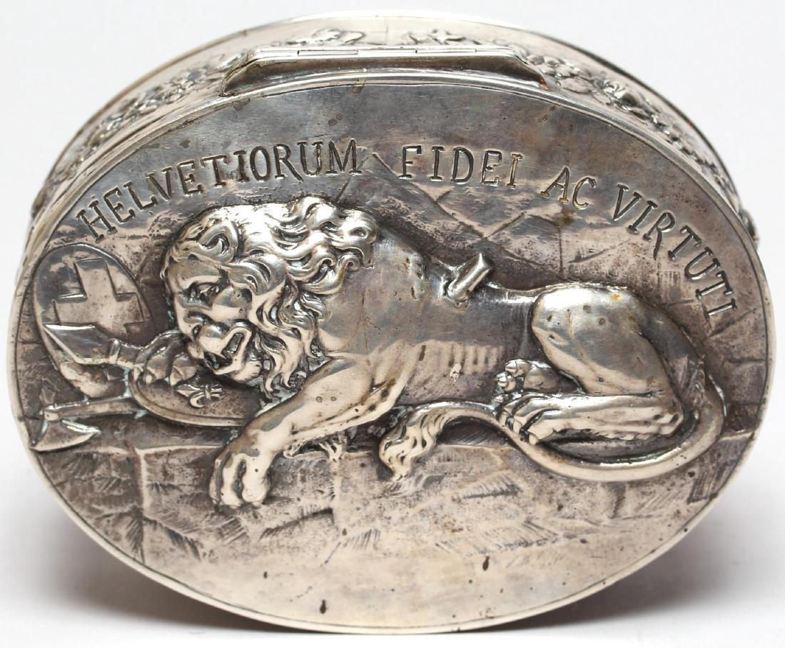 """Georg Roth Hanau Silver """"Lion of Lucerne"""" Box"""
