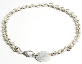 """Tiffany & Co. Sterling Silver """"Tag"""" Necklace"""