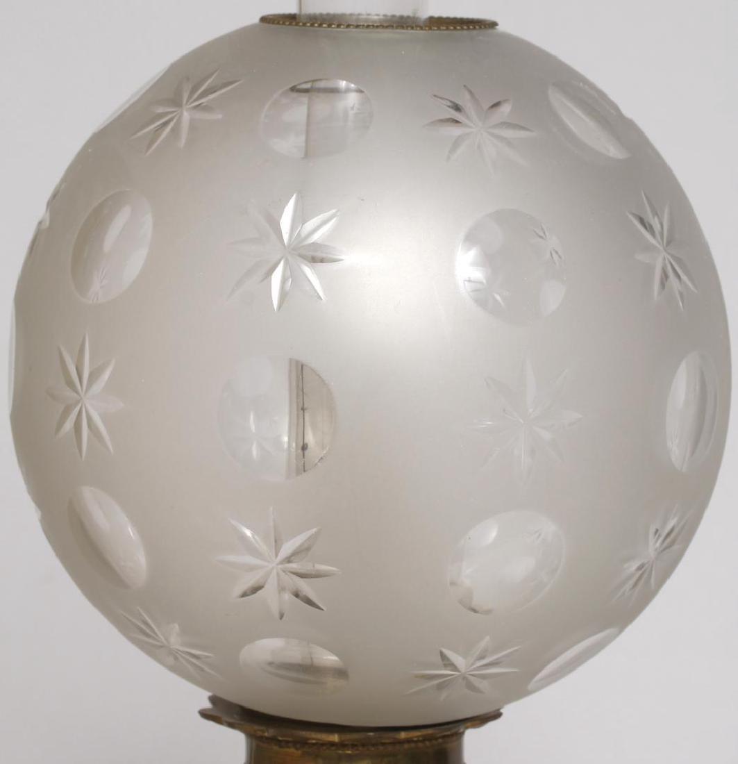 Pair of Old Paris Porcelain Electrified Gas Lamps - 2