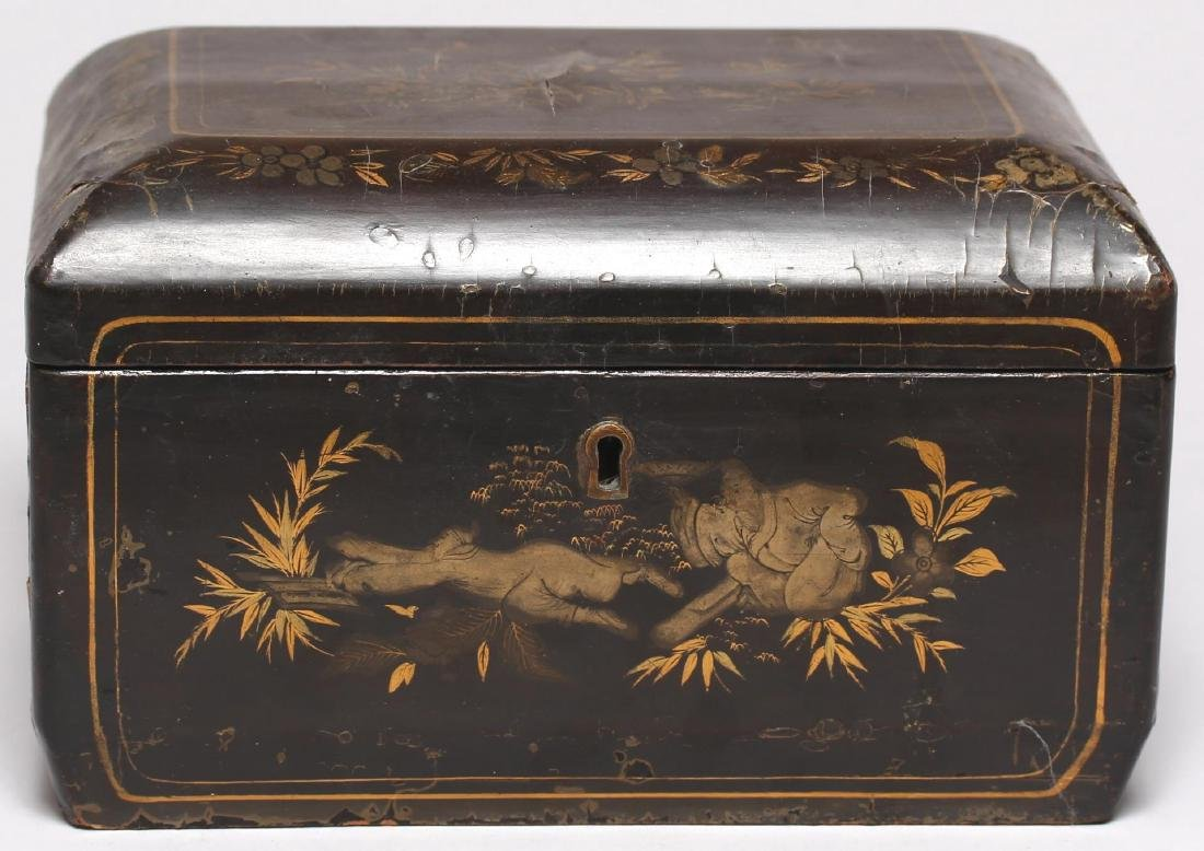 Antique Chinese Lacquer & Gilt Box