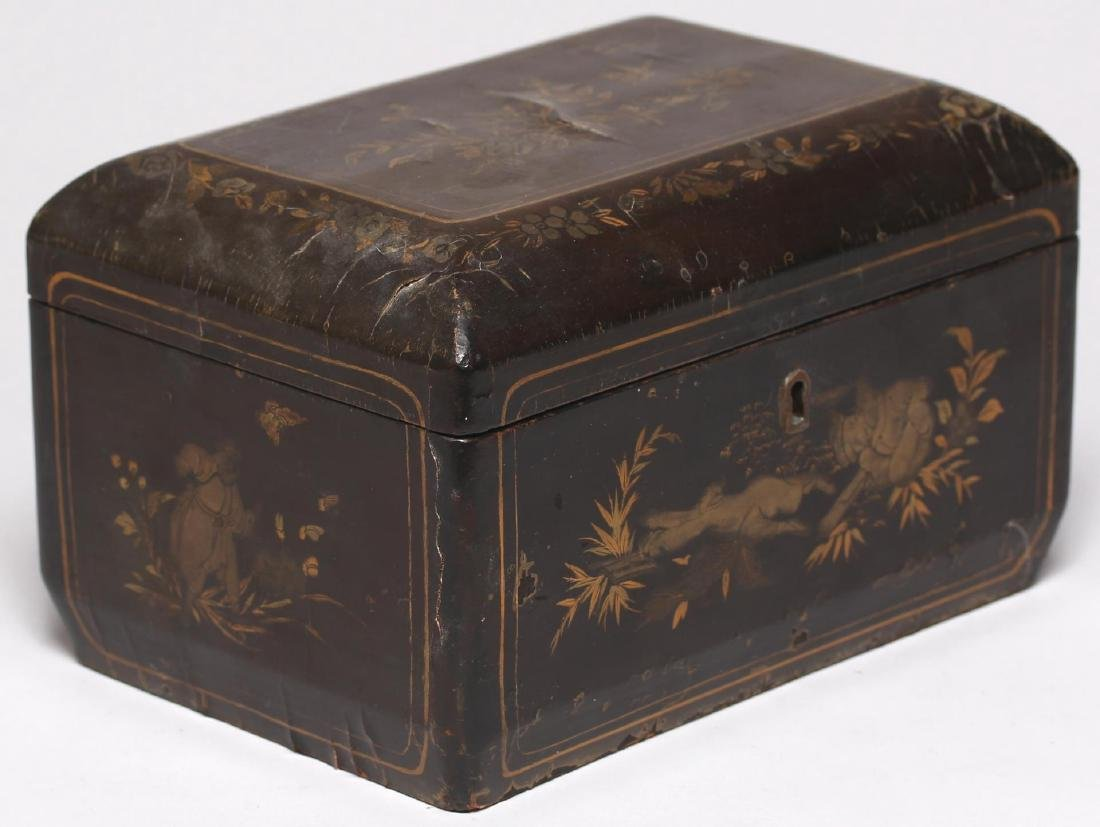 Antique Chinese Lacquer & Gilt Box - 2