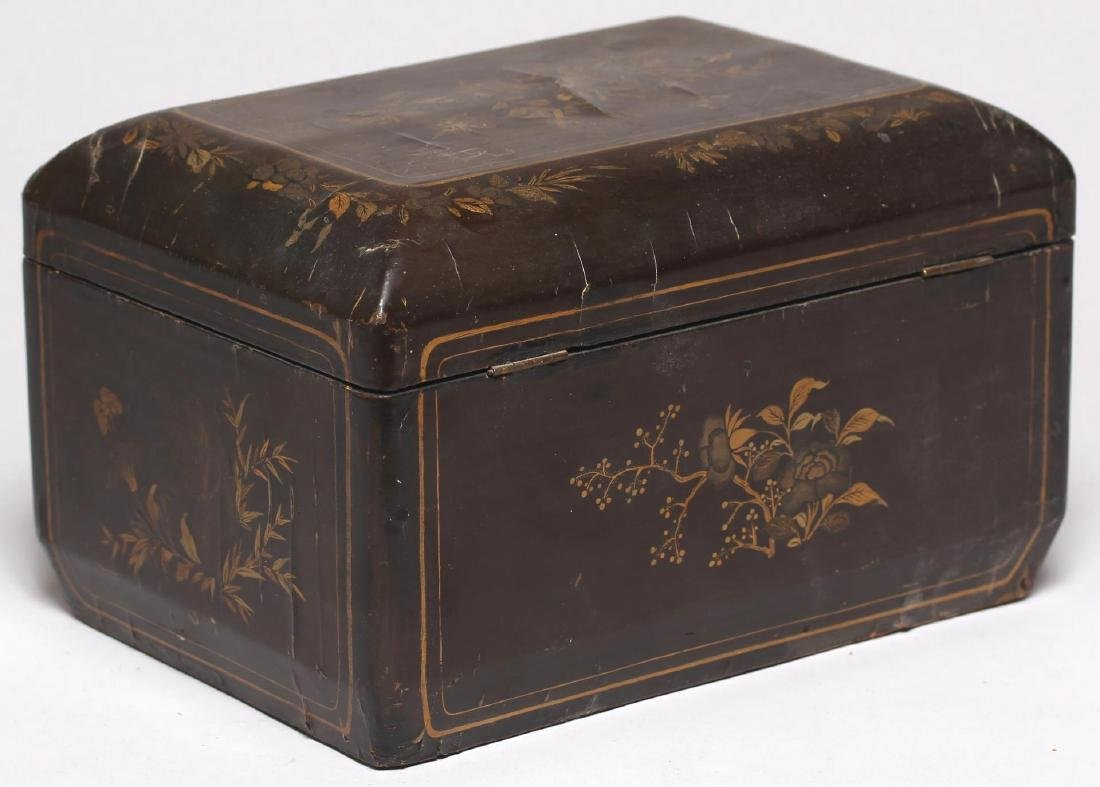 Antique Chinese Lacquer & Gilt Box - 3