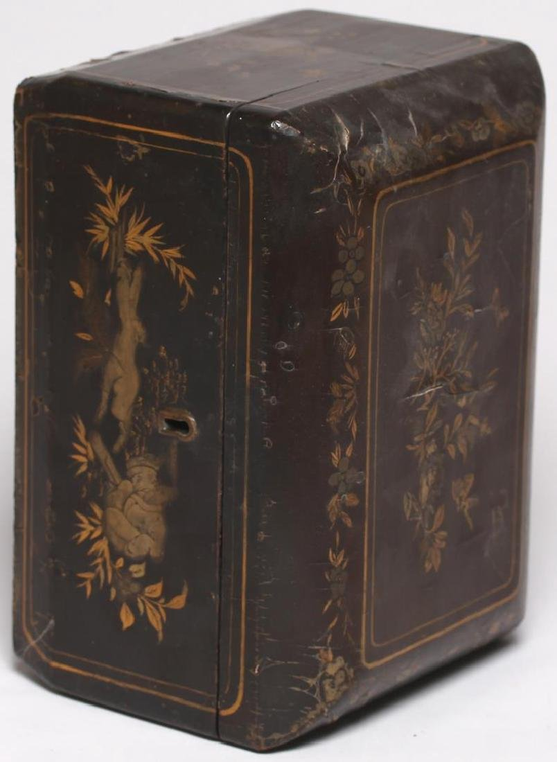 Antique Chinese Lacquer & Gilt Box - 4