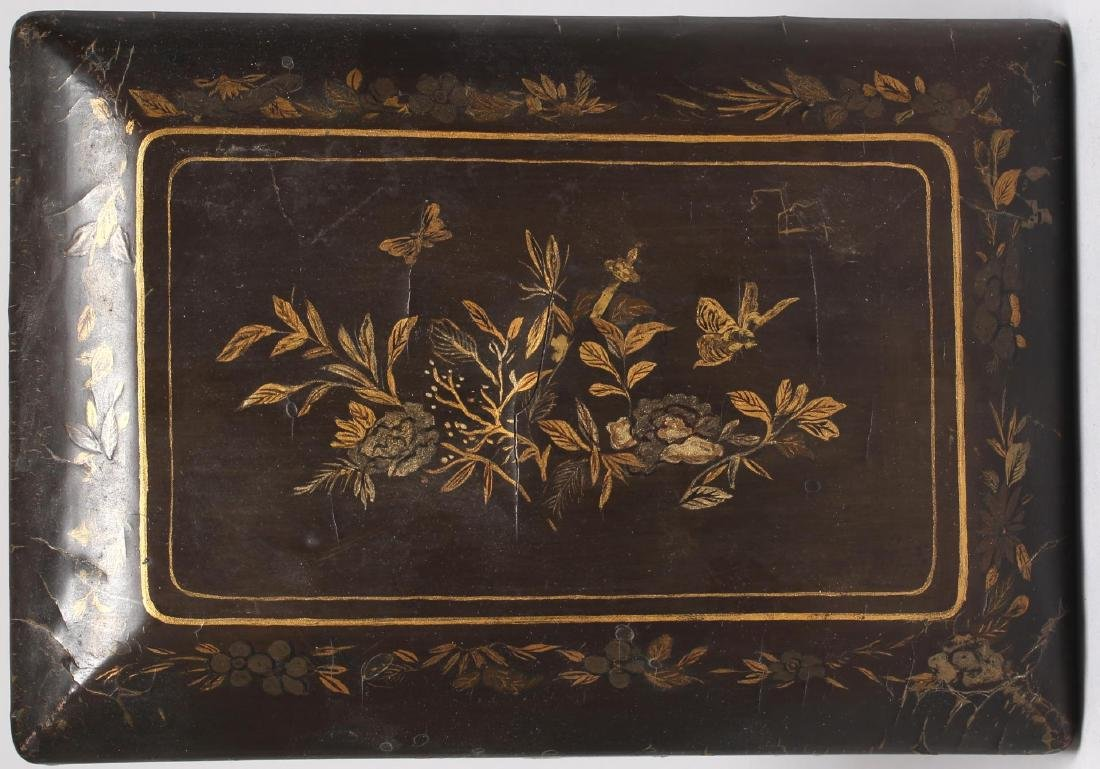 Antique Chinese Lacquer & Gilt Box - 5