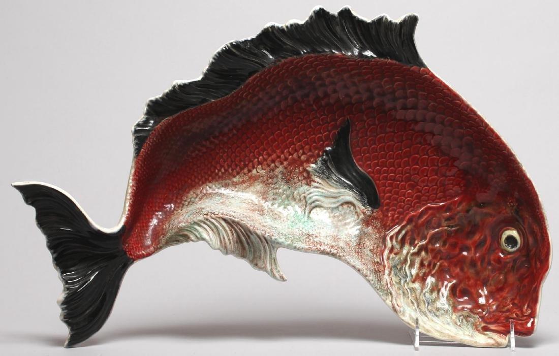 Rafael Bordalo Pinheiro Earthenware Fish Tray