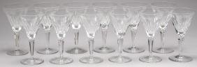 "12 Waterford ""Sheila"" Crystal Claret Wine Glasses"