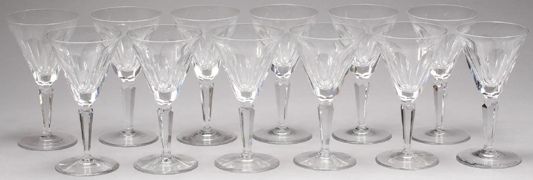 """12 Waterford """"Sheila"""" Crystal Claret Wine Glasses"""