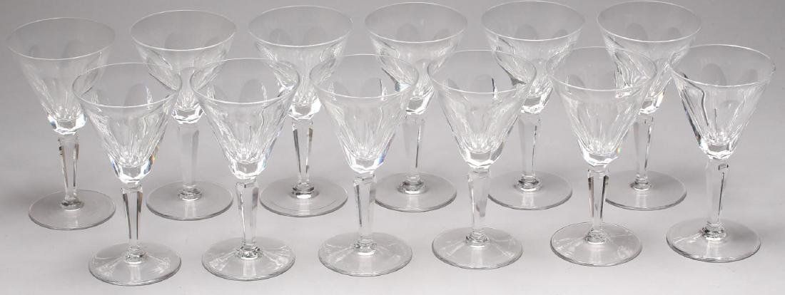 """12 Waterford """"Sheila"""" Crystal Claret Wine Glasses - 3"""