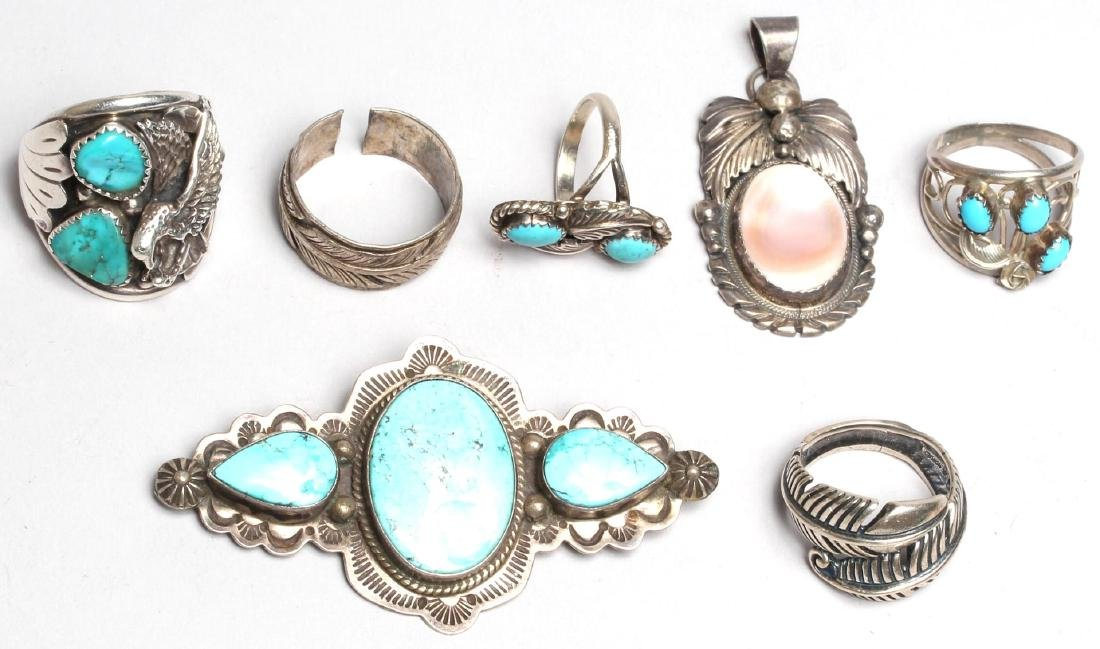 7 Native American Sterling Silver Jewelry Articles