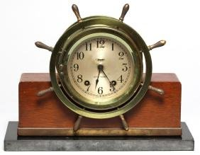 "Seth Thomas ""Mayflower 3"" Ships Bell Mantel Clock"