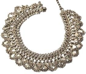 Ethnographic Silver Chain Fringe Necklace
