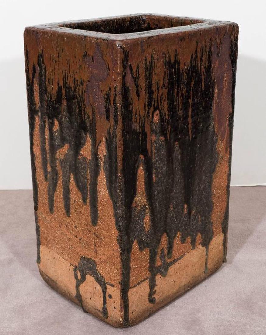 Modern Drip Glaze Pottery Umbrella Stand - 6