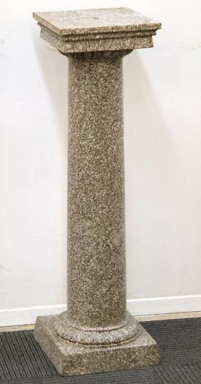 Faux-Painted Terra Cotta Pedestal