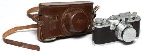 Vintage Early Leica IIIc Camera in Case, ca. 1940