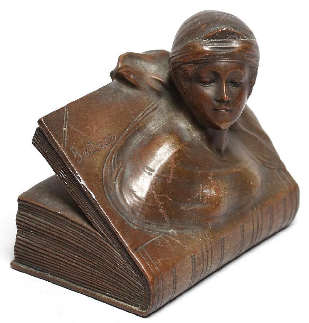 "Jennings Brothers Bronzed ""Beatrice"" Paperweight"