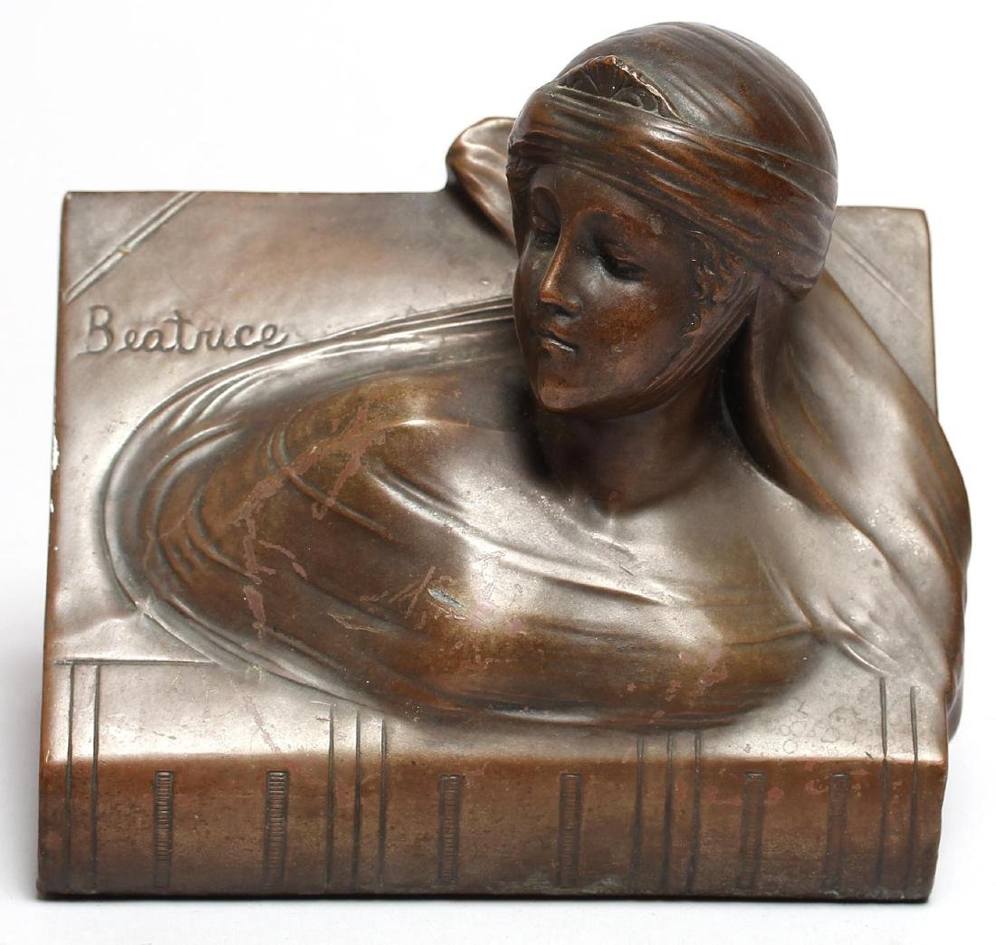 "Jennings Brothers Bronzed ""Beatrice"" Paperweight - 2"