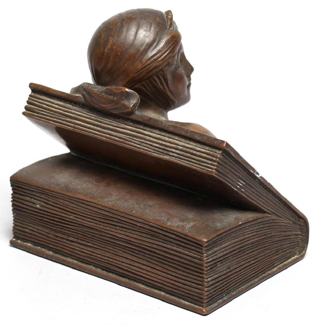 "Jennings Brothers Bronzed ""Beatrice"" Paperweight - 3"