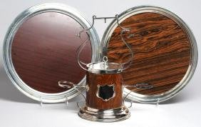 Group of Silver-Tone Metal & Laminate Items