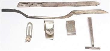 6 Vintage Sterling & .800 Silver Men's Articles