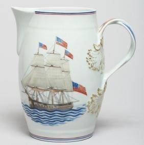"Mottahedeh ""U.S.S. Constitution"" Porcelain Pitcher"