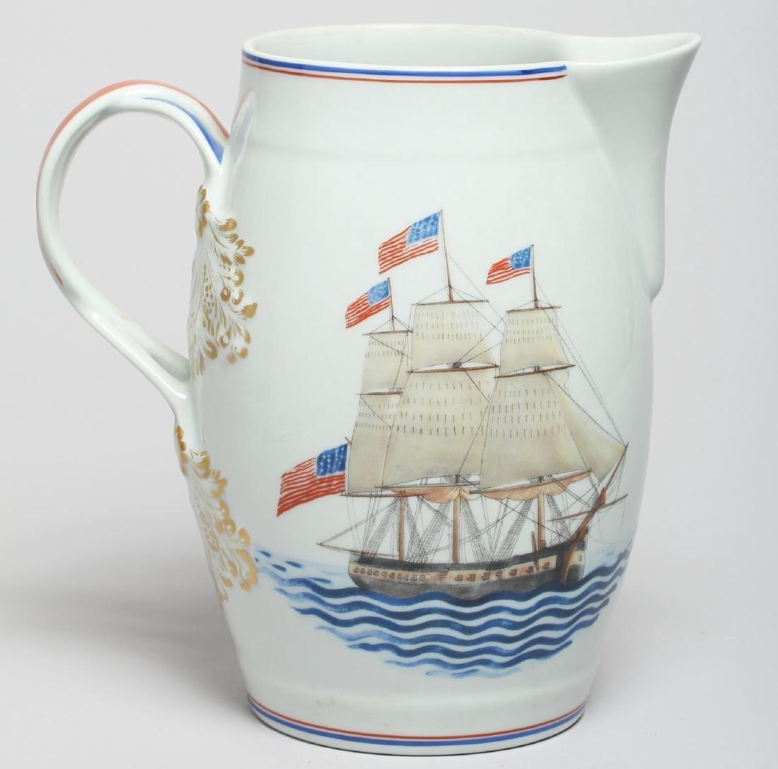 "Mottahedeh ""U.S.S. Constitution"" Porcelain Pitcher - 3"