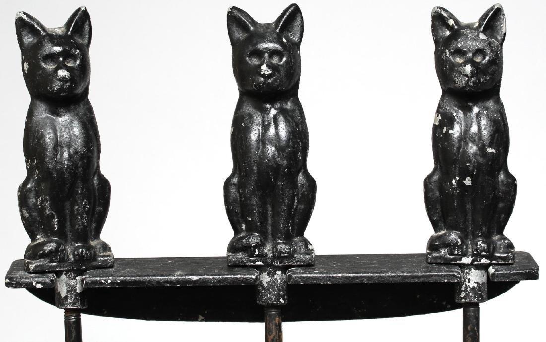 Black Cat Fireplace Tools & Andirons Set, ca. 1920 - 4