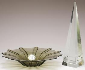2 Contemporary Glass Items