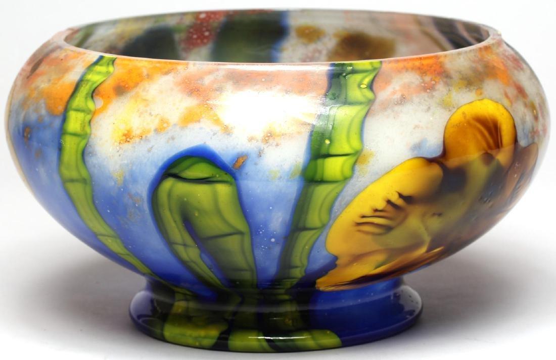 Art Nouveau-Style Floral Glass Vase
