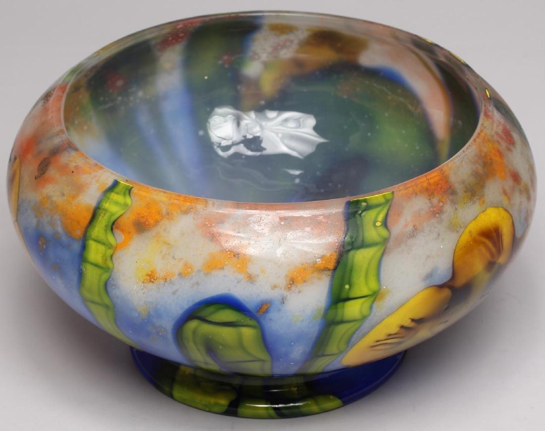 Art Nouveau-Style Floral Glass Vase - 2
