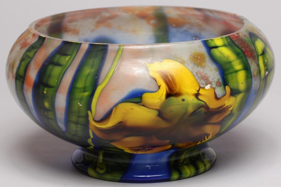 Art Nouveau-Style Floral Glass Vase - 3