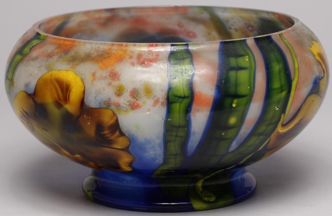 Art Nouveau-Style Floral Glass Vase - 4