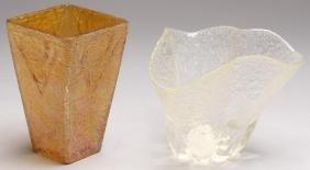 2 Studio Glass Vases