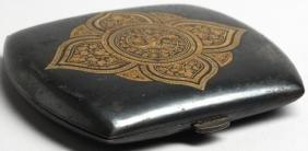 Toledo Ware Steel & Gold Leaf Cigarette Case