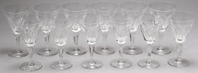 """12 Waterford """"Sheila"""" Crystal Water Goblets"""