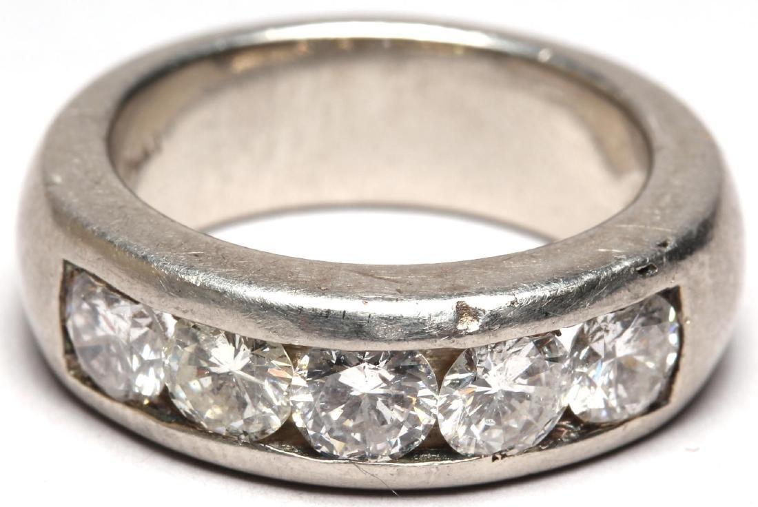Platinum & 5-Diamond Men's Ring