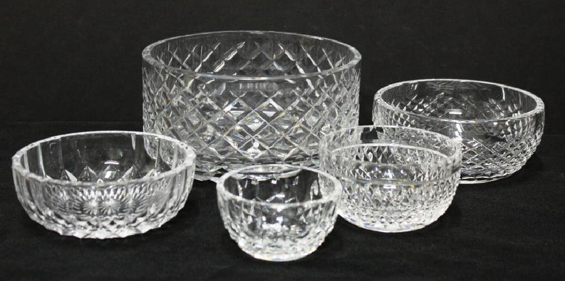 5 Waterford Cut Crystal Bowls