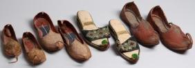 "4 Pairs of Vintage Turkish ""Aladdin Slipper"" Shoes"